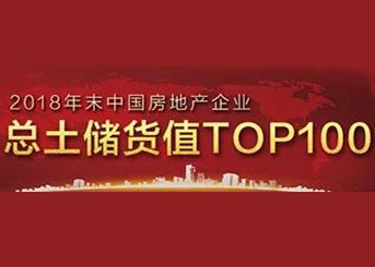 2018年中国房企总土储货值排行榜TOP100