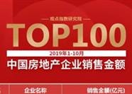 重磅发布 | 观点指数·2019年1-10月中国房地产企业销售金额TOP100